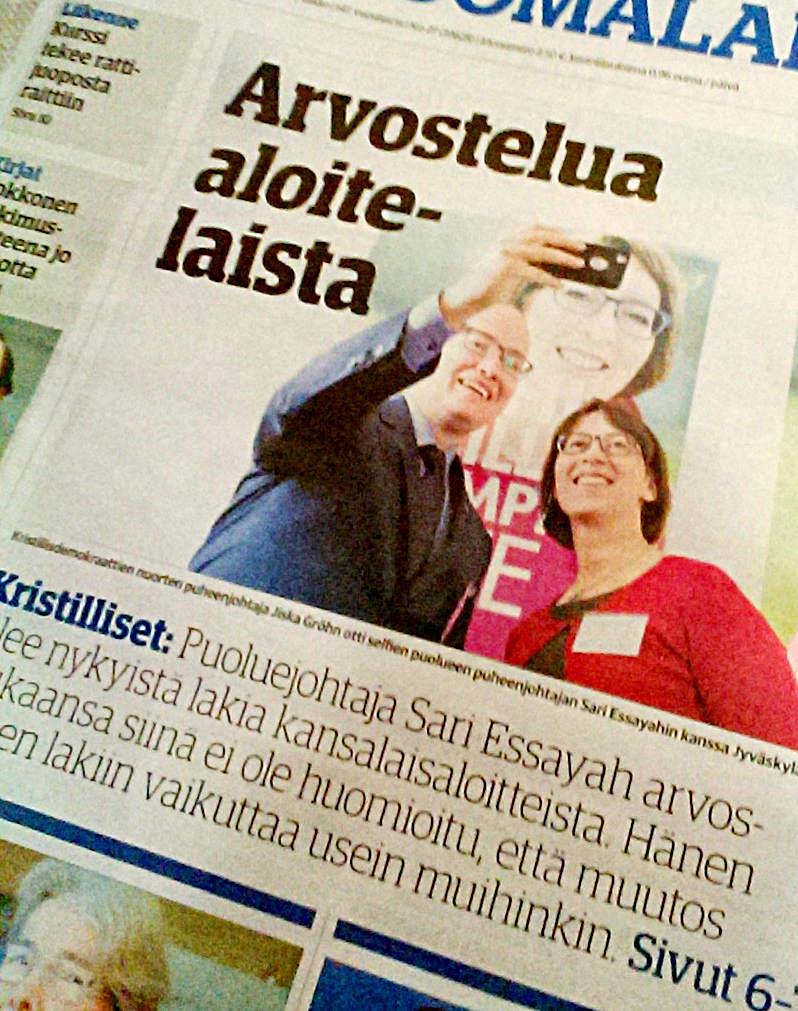 Keskisuomalaisen kansi 29.1.2017